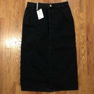 ASOS Black Denim Skirt (size 10)